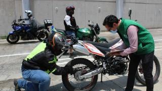 SEMOVI y STYFE, a través del ICAT CDMX, evalúan a motociclistas para la obtención de licencias A1 y A2